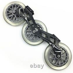 3X125mm Skate Frame 85A Wheel ILQ-11 Bearing Combination Inline Speed Skating