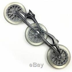 3X125mm Skate Powerslide Frame 85A Wheel ILQ-11 Bearing Inline Speed Skating