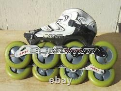 BONT Vaypor INLINE SPEED SKATES Mens U. S. Size 10 110mm Indoor Wheels