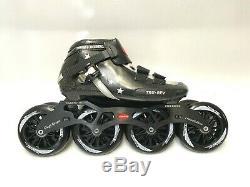 Black Thunder inline speed skate Diego Rosero US 7.5 Black Thunder 110mm wheels
