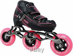 Blue or Pink Warp Adjustable Inline Speed Skates 90mm/100mm Wheels FREE SHIPPING