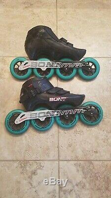Bont Inline speed skates 3PF Carbon Fiber Magnesium Carry Bag 44/10 Wheels Parts