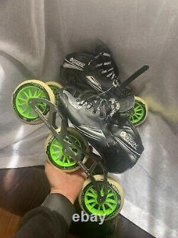 Bont Jet Striker Carbon Fiber Size 7.5 Wheel Inline Speed Skates Retail (400$)