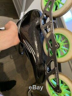 Bont Jet Striker Inline Speed Skates 3x125mm 125mm Striker II Size 12 Size 48