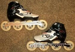 Bont Semi-Race size 8 / 41 Inline Speed Skates white and black carbon fiber VGUC