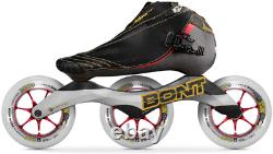 Bont Skates Inline Speed Skating Racing Vaypor Boots + Supercell Xx-Firm Glo