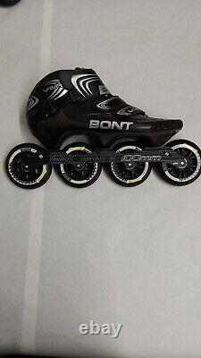 Bont Vaypor Inline Speed Skates Size 12.5 with chassis wheels and bearings