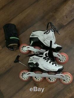 Bont inline speed skates size 8 41 white black 8x100cm tool EUC