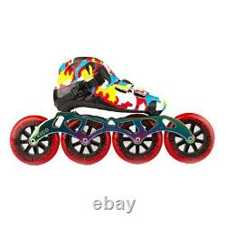 Camouflage Speed Inline Skates Carbon Fiber Professional Competition 4 Wheels