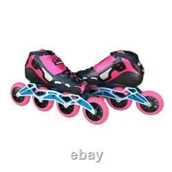 Canariam Professional Inline Speed Skates Pink & Black SZ 9 (41)