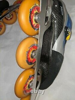 Canariam Raptor Carbon Fiber inline Speed Racing skates Size 10