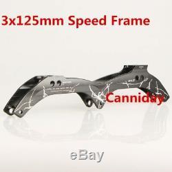 CityRun Inline Speed Skate Frame 3125mm 12.6' Aluminum Alloy 7075 for 3 Wheels