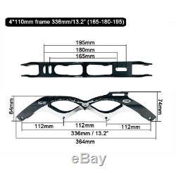 Cityrun Inline Roller Skates Base 4x90/100/110mm Frame & Wheels for Speed