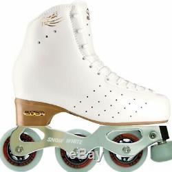 Edea Rondó skate boots 250 Inline Snow White frames Speed Max wheels (Pic Skate)