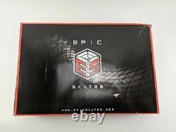 Epic Skates 125mm Engage 3-Wheel Inline Speed Skates Black/ Golden Size 10