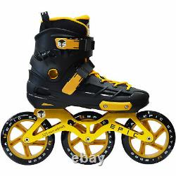 Epic Skates Engage 3-Wheel Inline Speed Skates in Black/Gold Adult Size 7