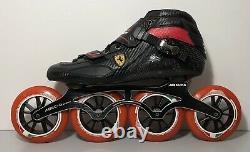 Ferrari Inline Speed Skates FS81 Carbon 110mm Abec-9 Mens Size 10.5 / EU 45