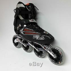 Fila FM 100 black/orange Speedskate Marathon Inline Skates Gr. 46
