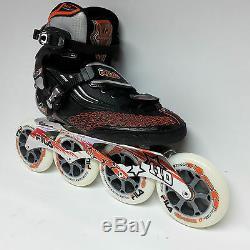 Fila M 110 black/orange Speedskate Marathon Inline Skates 110 mm Rollen Gr. 37