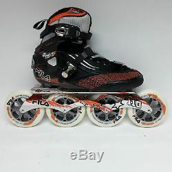 Fila M 110 black/orange Speedskate Marathon Inline Skates 110 mm Rollen Gr. 38