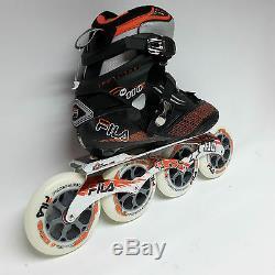 Fila M 110 black/orange Speedskate Marathon Inline Skates 110 mm Rollen Gr. 39