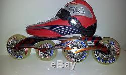 Fila Matrix 100 LK Red/Sil/blue Speedskates Fitness Inline Skates Gr. 38 Sale
