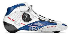Fila Matrix Pro Boot white/blue Speedskates Fitness Inline Skates Gr. 42 Sale