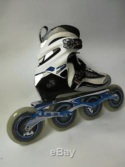 Fila Nine 100 Lady black white blue Marathon Speedskate Inliner Skates 11 Gr. 37