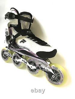 Fila Nine 90 Lady white lila Marathon Speedskate Inliner Skates 1025 Gr. 38,5