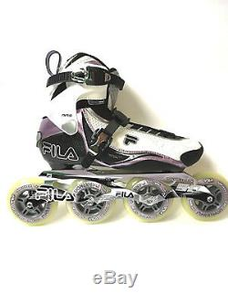 Fila Nine 90 Lady white lila Marathon Speedskate Inliner Skates 1025 Gr. 41