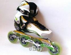 Fila Nine 90 Ladygreen/lila Marathon Line Speedskate Inliner Skates 3025 Gr. 38