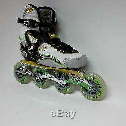 Fila Nine 90 green/yellow Marathon Damen Speedskate Inliner Skates Gr. 38