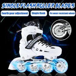 Flashing Adjustable Inline Skates For Kids Adults Women Men Speed Rollerblades