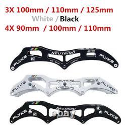 Flyke NEUTRINO 3X125mm 3X110mm 3X100mm 3 wheels inline speed skates frame 4110M