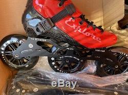 ISPORTS Speed Inline Skates Carbon Fiber Competition Skate 3125mm Street