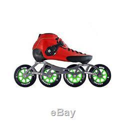 Inline Competitive Speed Skates Luigino Strut Red Atom Boom Indoor Wheels