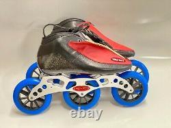 Inline Speed Carbon Fiber TruRev Skates 3-125mm wheels. Size 10.5-11 US