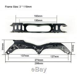 Inline Speed Skate Frame 390/100/110/125mm Aluminum Alloy 7075 for 3 Wheels