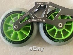 Inline Speed Skate Luigino Pilot Striker II Frame and Wheel Set Ceramic Bearings