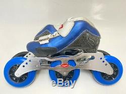 Inline Speed Skate Trurev Smoke Em US 3 100mm or 110mm 3 Wheel Frame