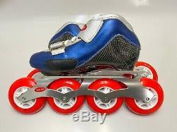 Inline Speed Skate Trurev Smoke Em USm size 3.5, 84mm wheels and frame