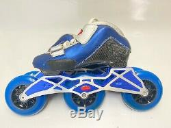 Inline Speed Skate Trurev Smoke Size 2.5, New 100mm wheels and skate frame