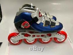 Inline Speed Skate by Trurev. Size 6.5, New 84mm skate wheels, swiss bearings