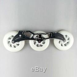 Inline Speed Skates Frame Flashing Wheel Bearing Combination for 3X125mm
