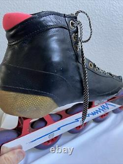 Inline Speed Skates Size 10.5 with Mogema Frames & Hyper Redline Racing Wheels