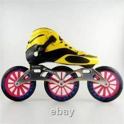 JEERKOOL Carbon Fiber Fiberglass Inline Speed Skates 3125 Wheel Kid Adult