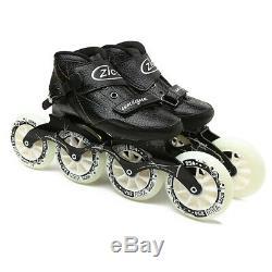JK ZICO Speed Inline Roller Skates Carbon Fiber Professional 4 Wheels Racing