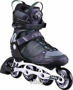 K2 Herren Inliner F. I. T. 84 Speed BOA Fitness Skates schwarz grün 30D0280