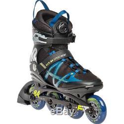K2 Men's Inliner F. I. T. 84 Speed Boa Fitness Skates Black Petrol