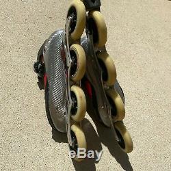 K2 RADICAL 100 Marathon Speed Inline Skates Roller Blades Carbon Fiber Men Sz 12